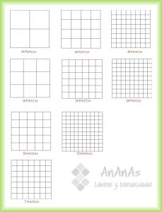 Diferentes tipos de cuadrículas