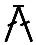 simbolo cerrar dos puntos juntos