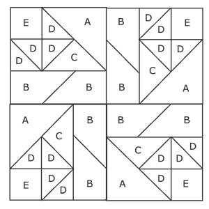 gráfico con piezas identificadas