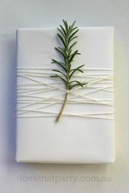 Simple White Christmas Gift Wrap 3w