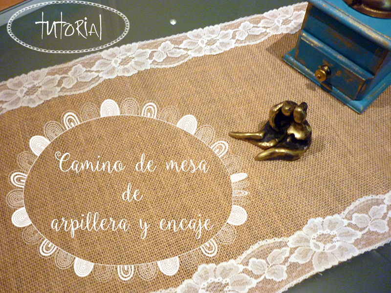 Camino de mesa de arpillera y encaje ananas - Caminos de mesa de papel ...
