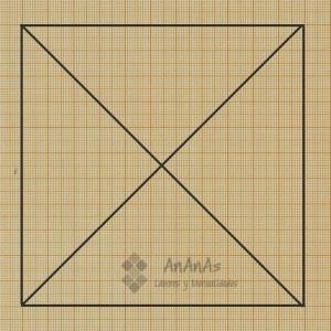 trazado-patron-cuadrado-de-4-triangulos-dibujar-diagonales