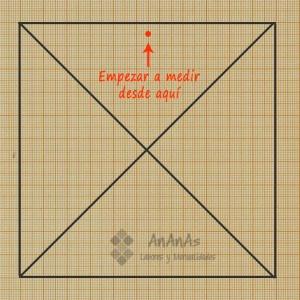trazado-patron-cuadrado-de-4-triangulos-empezar-a-aplicar-las-medidas
